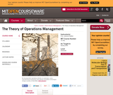 The Theory of Operations Management, Spring 2004