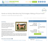 Manufacturing Technologies: Making a Picture Frame