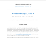The Programming Historian 2: Georeferencing in QGIS 2.0