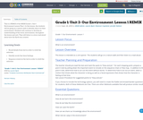 Grade 1: Unit 2- Our Environment: Lesson 1 REMIX