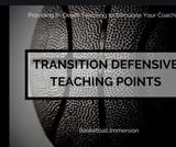 Basketball Transition Defense 101