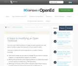 6 Steps to modifying an Open Textbook
