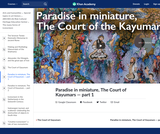 Paradise in miniature, The Court of Kayumars — part 1