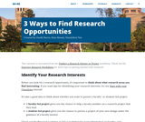 3 Ways to Find Research Opportunities