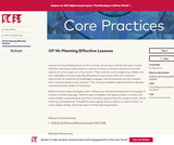 CP 10: Planning Effective Lessons