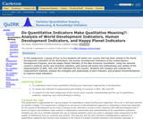 Do Quantitative Indicators Make Qualitative Meaning? Analysis of World Development Indicators, Human Development Indicators, and Happy Planet Indicators