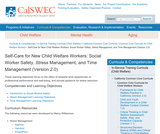 Self-Care for New Child Welfare Workers: Social Worker Safety, Stress Management, and Time Management (Version 2.0)