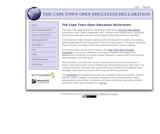 The Cape Town Open Education Declaration
