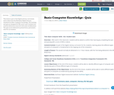 Basic Computer Knowledge - Quiz