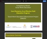 Core Elements of an Effective Field Education Program