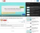 #11 Java Tutorial: Abstrakte Klassen #neue Version