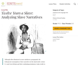 Twelve Years a Slave: Analyzing Slave Narratives