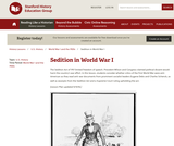 Reading Like a Historian: Sedition in WWI