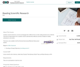 Reading Scientific Research