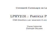 OER-UCLouvain: LPHY2131 data analysis lab using CMS open data