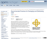 Recommended Practices for  Packaging and Distributing OER
