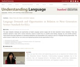 Language Demands and Opportunities in Relation to Next Generation Science Standards for ELLs