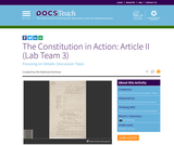 The Constitution in Action: Article II (Lab Team 3)