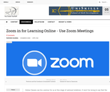 Zoom App for Learning Online
