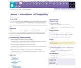 CS Discoveries 2019-2020: Physical Computing Lesson 6.1: Innovations in Computing