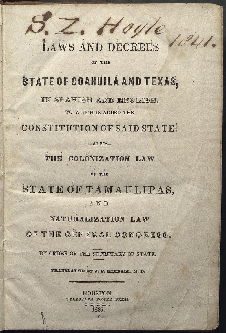 Constitution Of Coahuila And Texas (1827)