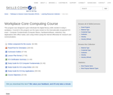 Workplace Core Computing Course - SkillsCommons Repository