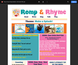 Romp & Rhyme Storytime Parent Activity Sheet: Make a Splash!