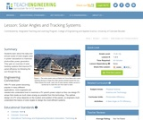 Solar Angles and Tracking Systems