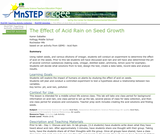 The Effect of Acid Rain on Seed Growth