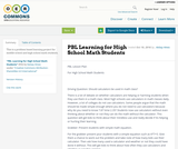 PBL Learning for High School Math Students