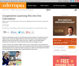 Cooperative Learning Fits into the Calculation