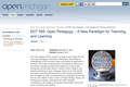 Open Pedagogy:  A New Paradigm for Teaching and Learning