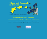 Historical Research in Europe: A Guide to Archives and Libraries