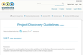 Project Discovery Guidelines