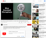 How to mount your Blue Snowball microphone on a camera tripod