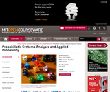 Probabilistic Systems Analysis and Applied Probability, Fall 2010