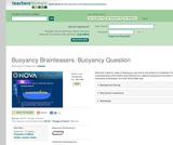 Buoyancy Brainteasers: Buoyancy Question