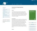 A grammar of Yauyos Quechua