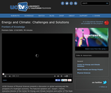 Frontiers of Knowledge: Energy and Climate, Challenges and Solutions