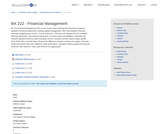 BA 222 - Financial Management