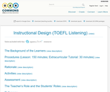 Instructional Design (TOEFL Listening)
