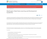 Washington State Early Learning and Development Guidelines