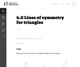 Lines of Symmetry For Triangles