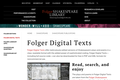 Folger Digital Texts