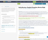 Daily Routine- English Template, Novice High