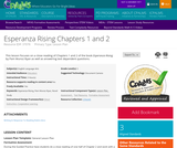 Esperanza Rising Chapters 1 and 2