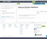 Inferences Checklist—High School