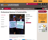 Professional Seminar in Sustainability, Spring 2010