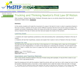 Trucking and Thinking Newton's First Law Of Motion