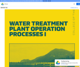 Water Treatment Plant Operation Processes I